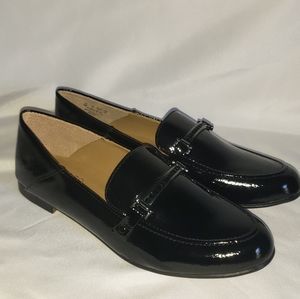 NWT Franco Sarto black patent leather loafers